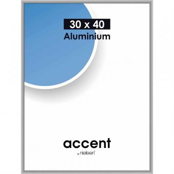 Alurahmen Accent 30x40 cm | Silber matt | Normalglas