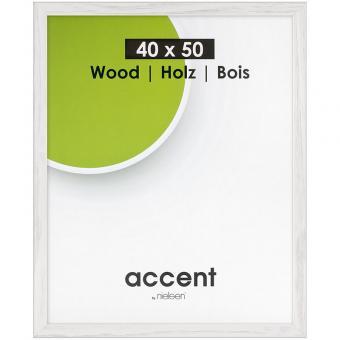 Holz-Wechselrahmen Magic 13x18 cm | Weiß | Normalglas