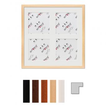 """4er Galerierahmen """"Uppsala"""", 40x40 cm - 15x15 cm"""