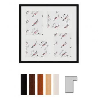 "4er Galerierahmen ""Lund"", 50x50 cm - 15x20 cm"