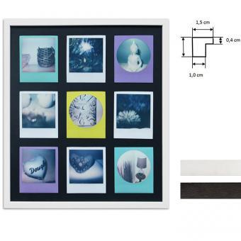 Bilderrahmen für 9 Sofortbilder - Typ Polaroid 600