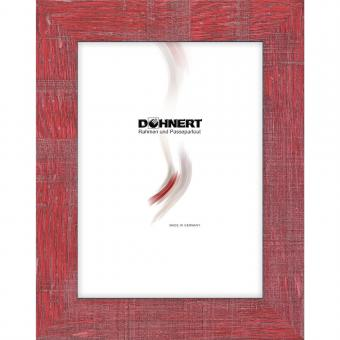 Kunststoffrahmen Archway 18x18 cm | Rot | Normalglas