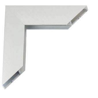 giga alu bilderrahmen 20x30 frosted silver normalglas online kaufen. Black Bedroom Furniture Sets. Home Design Ideas