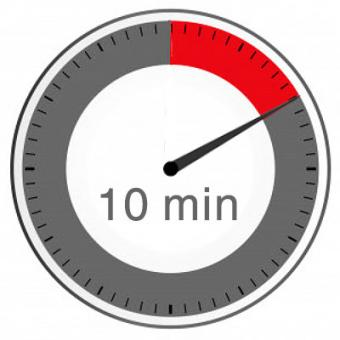 Mehraufwand je 10 Minuten