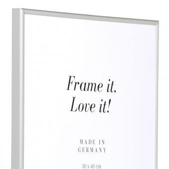 Alurahmen Econ rund 84,1x118,9 (A0) | silber matt | Kunstglas