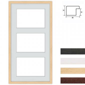 3er Galerierahmen aus Holz, 40x80 cm für DIN A4