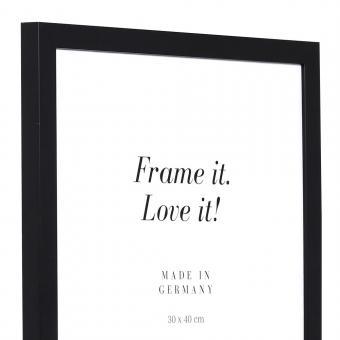 Holzrahmen Top Cube 29,7x42 (A3) | schwarz | Normalglas