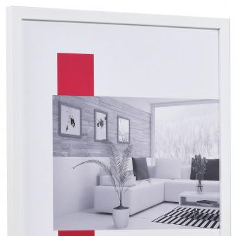 Holzrahmen Top Pro S 18x24 | weiß | Antireflexglas