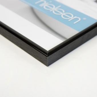 Alurahmen Classic 70x100 cm | Eloxiert Schwarz | Normalglas