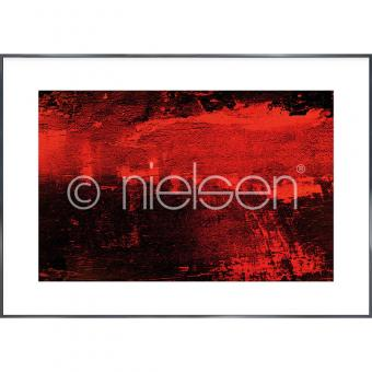 "Gerahmtes Bild ""Abstract red I"" mit Alurahmen Alpha"