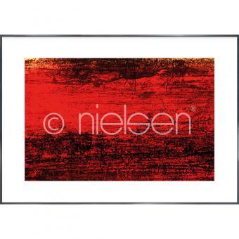 "Gerahmtes Bild ""Abstract red II"" mit Alurahmen Alpha"