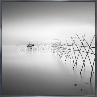 "Gerahmtes Bild ""Malaysian Fishing II"" mit Alurahmen Alpha"