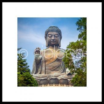"Gerahmtes Bild ""Statue of Buddha"" mit Alurahmen C2"