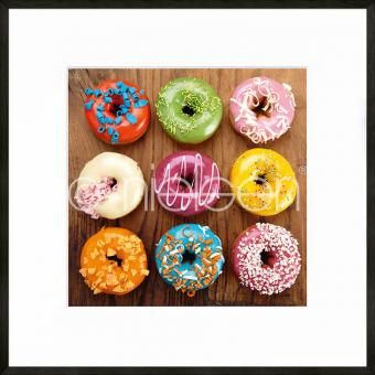 "Gerahmtes Bild ""Donuts"" mit Alurahmen C2"