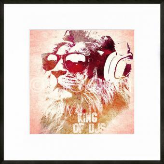 "Gerahmtes Bild ""King of DJs"" mit Alurahmen C2"