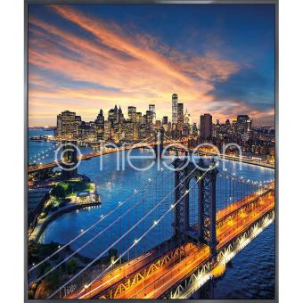 "Gerahmtes Bild ""New York City Sunset"" mit Alurahmen Alpha"