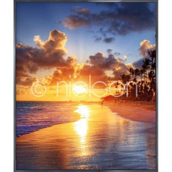 "Gerahmtes Bild ""Sunset Beach"" mit Alurahmen Alpha"