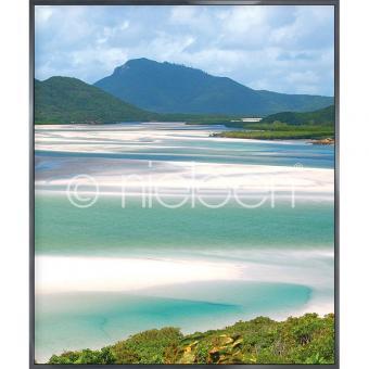"""Gerahmtes Bild """"White Haven Beach"""" mit Alurahmen Alpha"""