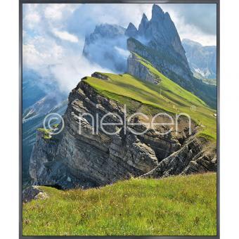 "Gerahmtes Bild ""Mountain Range"" mit Alurahmen Alpha"