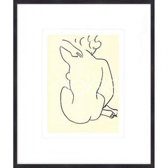 """Gerahmtes Bild """"Nu, 1949 con Matisse"""" mit Holzrahmen Quadrum"""
