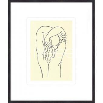 """Gerahmtes Bild """"Hommage 1932 von Matisse"""" mit Holzrahmen Quadrum"""