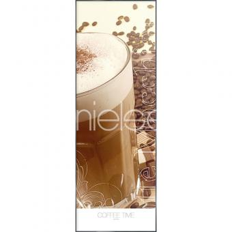 "Gerahmtes Bild ""Coffee Time"" mit Alurahmen Alpha"