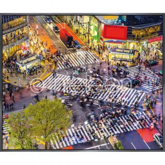 "Gerahmtes Bild ""Tokyo Crosswalks"" mit Alurahmen Alpha"