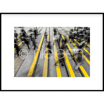 "Gerahmte Kunst ""Zebra Crossing"" mit Alurahmen C2"