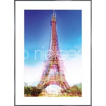 """Gerahmtes Bild """"Eiffel Tower"""" mit Alurahmen Alpha"""
