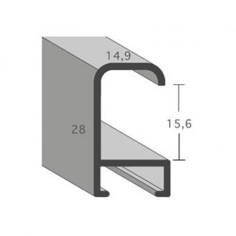 alu bilderrahmen serie 427 20x30 cm silber matt geb rstet normalglas online. Black Bedroom Furniture Sets. Home Design Ideas