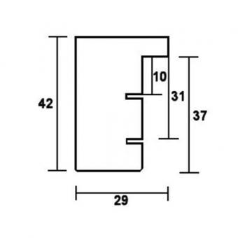 holzrahmen nouvelle 9x13 schwarz leerrahmen ohne glas r ckwand online kaufen. Black Bedroom Furniture Sets. Home Design Ideas
