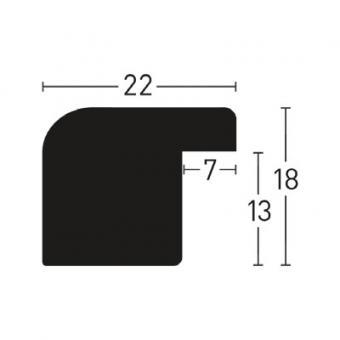 holzrahmen sonderzuschnitt aquarelle 22 silber leerrahmen ohne glas r ckwand. Black Bedroom Furniture Sets. Home Design Ideas