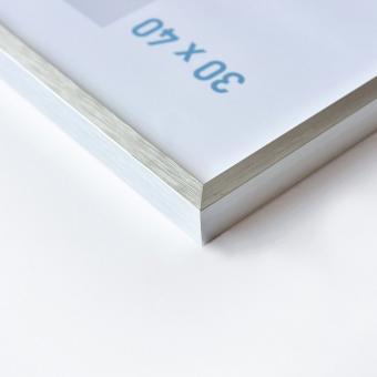 Nielsen Alurahmen C2 50x70 cm struktur silber matt