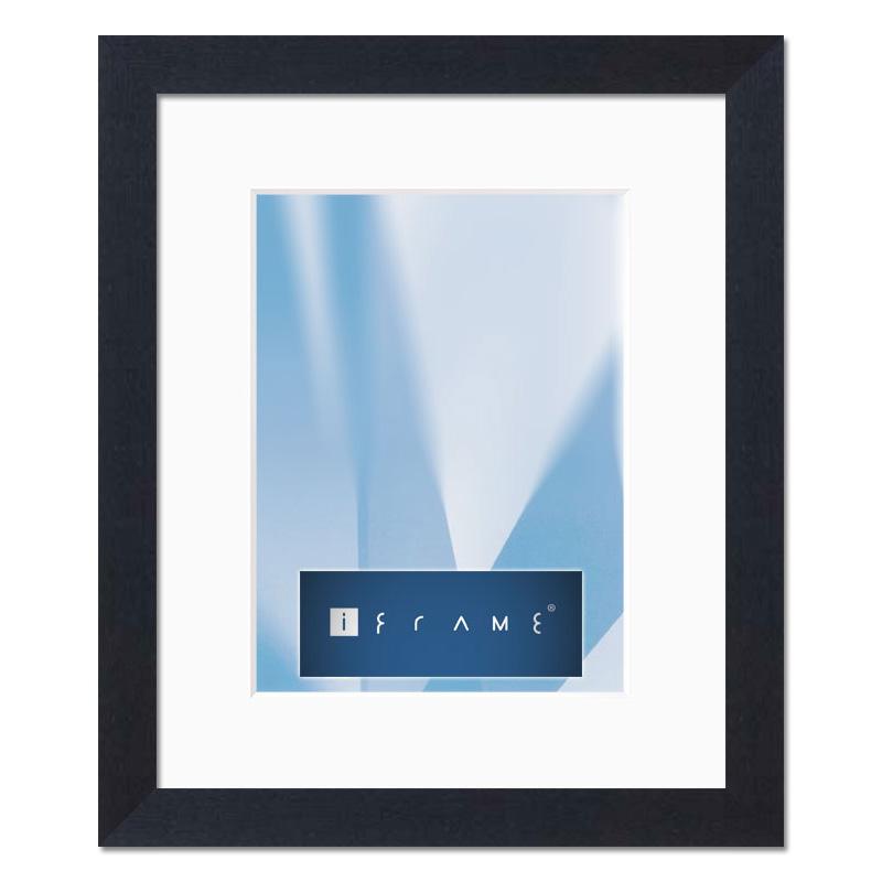 iframe holz wechselrahmen stuttgart 60x80 cm schwarz auf natur normalglas. Black Bedroom Furniture Sets. Home Design Ideas