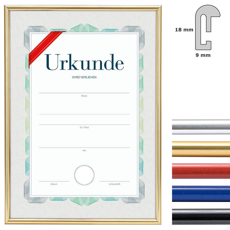 McRahmen.de   Kunststoffrahmen mit Urkunde, DIN A4   online kaufen