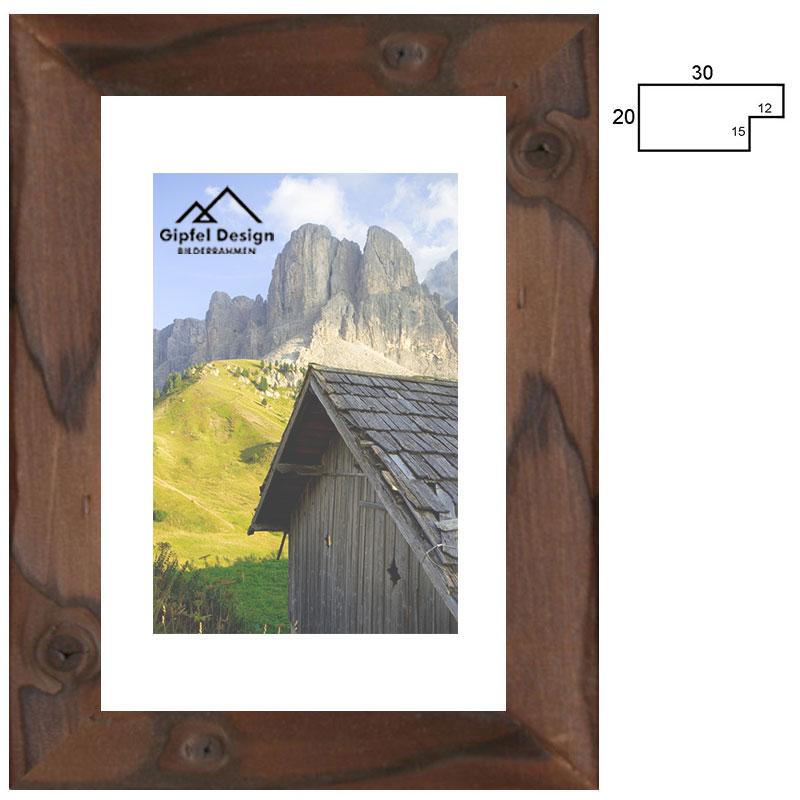 McRahmen.de | Holz-Bilderrahmen Achensee 30 10x15 cm | gebrannte ...