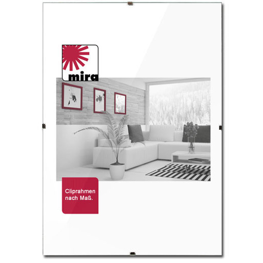 cliprahmen ma anfertigung rahmenlos normalglas online kaufen. Black Bedroom Furniture Sets. Home Design Ideas