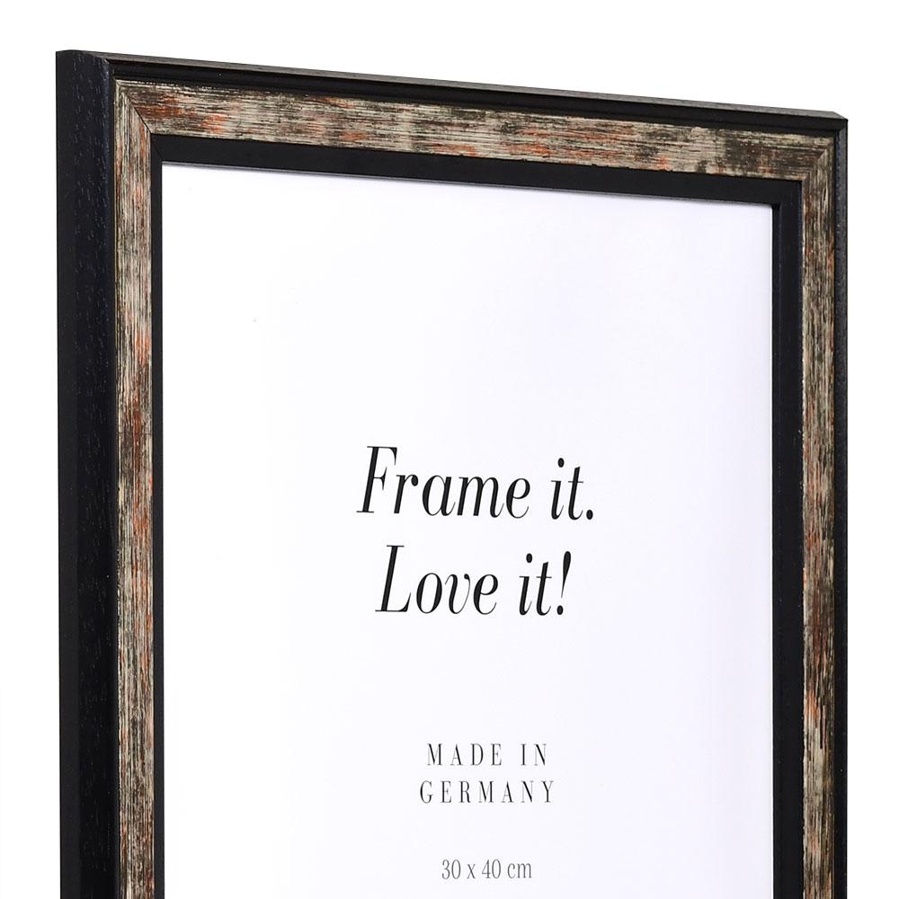 holzrahmen autun 70x105 schwarz kunstglas online kaufen. Black Bedroom Furniture Sets. Home Design Ideas