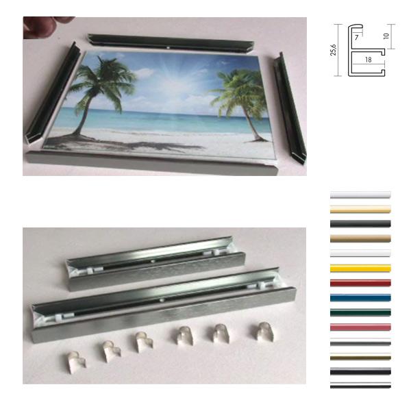 aluminium leistenpaare quadro silber matt eloxiert leerrahmen ohne glas. Black Bedroom Furniture Sets. Home Design Ideas