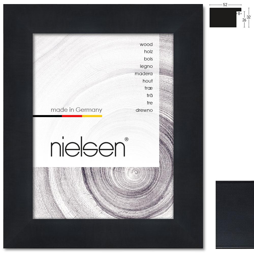 holzrahmen blackwoods 20x32 21x29 7 cm a4 schwarz leerrahmen ohne glas. Black Bedroom Furniture Sets. Home Design Ideas