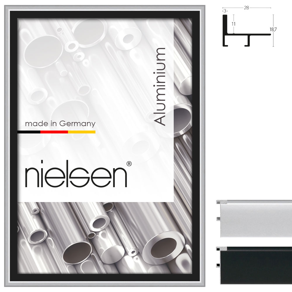 schattenfugenrahmen profil 230 21x29 7 cm a4 silber matt leerrahmen ohne. Black Bedroom Furniture Sets. Home Design Ideas