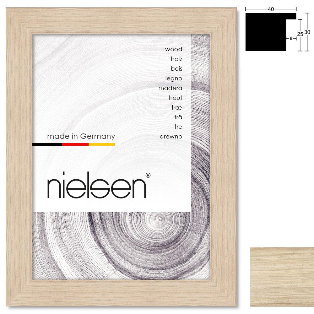 holzrahmen oakwoods 40x30 21x29 7 cm a4 eiche leerrahmen ohne glas r ckwand. Black Bedroom Furniture Sets. Home Design Ideas
