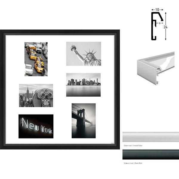 galerie bilderrahmen junior quadratisch 6 bilder online kaufen. Black Bedroom Furniture Sets. Home Design Ideas